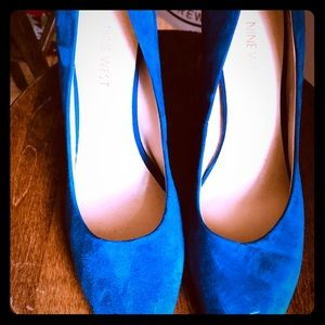 Royal Blue Size 10 Nine West Heels.